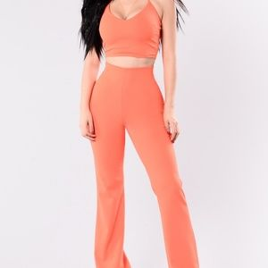 Fashion Nova Orange Crop Top